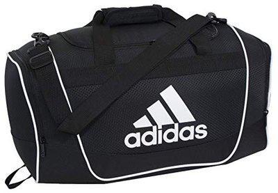 Adidas Men's Polyester Defender II Duffel Bag (Black)