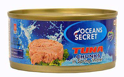 Oceans Secret Canned Tuna Chunks in Spring Water, 180g   Immunity Booster   Superfood