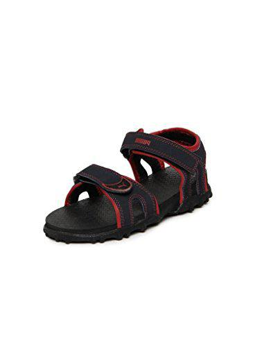 Puma Boy's Track Jr DP Peacoat and Grenadine Sandals and Floaters - 12C UK