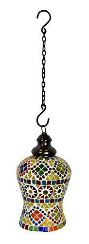 Lal Haveli HND00454 Traditional Indian Home Decorative Glass Hanging Lamps