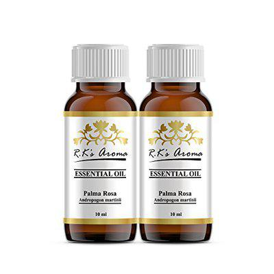 Rks Aroma Palma Rosa Essential Oil 100% Pure & Natural, 10ml (Pack of 2)