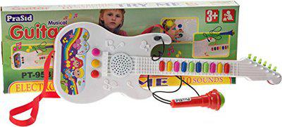 Prasid Musical Guitar with Mic (Multicolor)