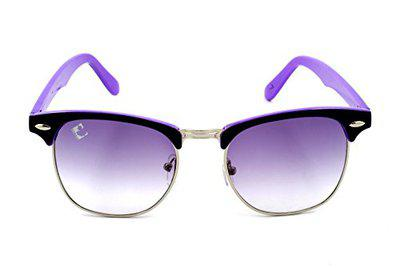 Clark n' Palmer Club Master Black Purple Silver Sunglasses