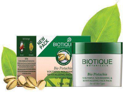 Biotique Bio Pistachio Ageless Nourishing & Revitalizing Face Pack For All Skin Types