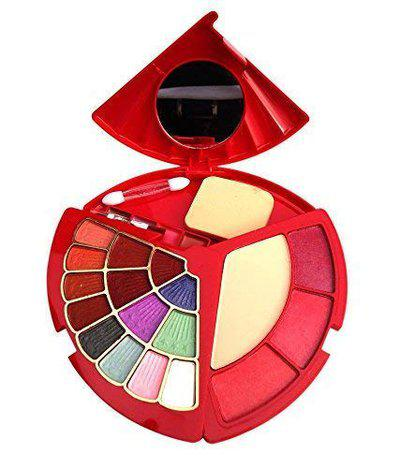 ads Makeup Kit with Eyeshadhow, Compact Powder, Blusher and Lip Colour