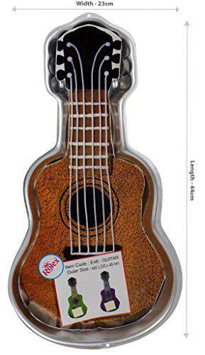 Rolex Aluminium Cake Mould Pans Guitar Big 1.5-2 Kg. Cake