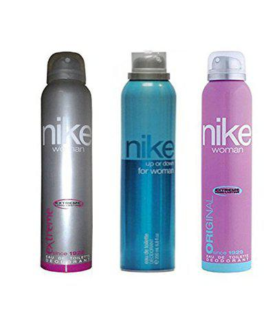 Nike Deodorant Combo Of 3 (Extreme + Up Or Down + Original) For Women 200ml