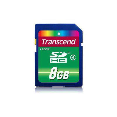 Transcend TS8GSDHC4 8 GB Secure Digital High Capacity SDHC  Class 4  1 Card