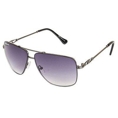 Danny Daze UV Protected Aviator Women Sunglasses (D-1835-C1 55MM Black)