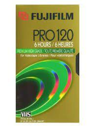 VHS Fuji PRO T-120 High-grade Recordable VHS Cassette Tapes (2 Pack)