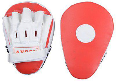 Axson Unisex PU Leather Boxing Punching Pad Curved Red & White