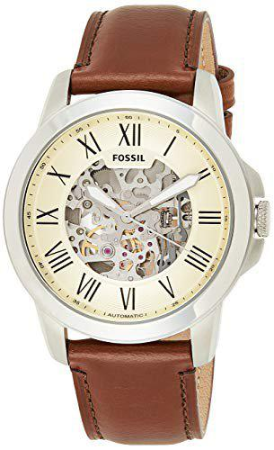 Fossil Grant Analog Off-White Dial Men's Watch - ME3099