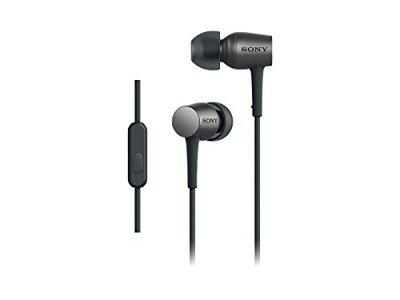 Sony in Canal Type Earphone with Remote Control, Microphone High-Resolution Sound (Charcoal Black)
