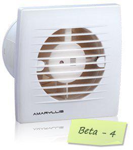 Amaryllis Bathroom Exhaust Fan 4 Inch Beta - 4 White/Ivory
