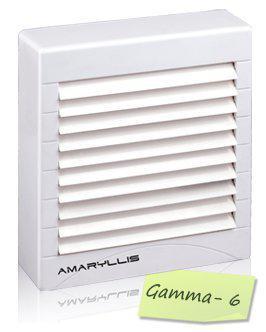 Amaryllis Bathroom Exhaust Fan 6 Inch Gamma - 6 White/Ivory