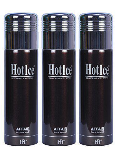 HotIce Deodorant Body Spray Affair Men Value Pack of 3