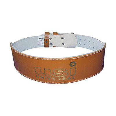 Weight Lifting Belt 10cm Unpadded Leather (790P) (S)