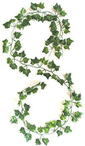 Miracle Retail Hanging Creeper Artificial Plant(Set of 2, Green 180cm)