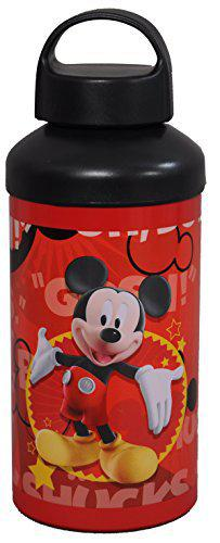 Disney Mickey Mouse Stainless Steel Sipper Bottle, 500ml, Red/Black