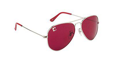 clark n palmer UV Protected Aviator Unisex Sunglasses - (CNP-RB-723|58|Pink Color Lens)