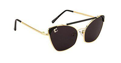 clark n palmer Butterfly Golden Metal Women's Sunglasses (CNP-Q1318, Black)