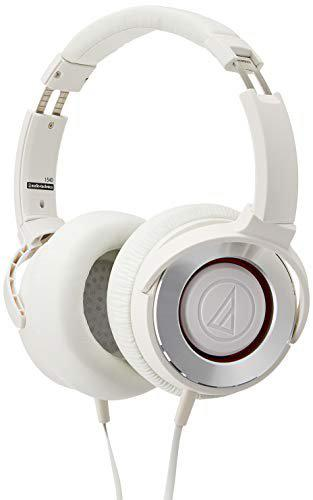 Audio-Technica Solid Bass ATH-WS550iS Headphones with Mic (White)