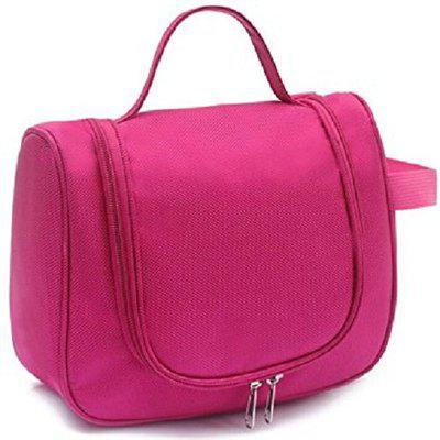 CONNECTWIDE Toiletory Bag and Travel Cosmetic bag (Pink), Elegant Waterproof Travel Bag Beauty Make Up Toiletry Wash Bag Zipper Cosmetic Case Organizer, Multi Functional Travel Organizer Cosmetic Make up Bag Luggage Storage Case, Nylon Material, 15 Litre