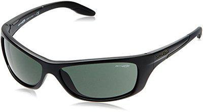 Arnette UV Protected Rectangular Unisex Sunglasses - (SWINGPLATE AN4160-01/71-3N 61 Green lens)