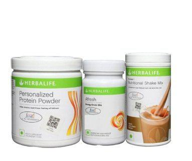 Herbalife Weight Loss Formula 1 Chocolate with Personalized Protein Powder and Afresh (Ginger, 1 Kg)