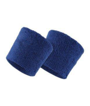 Verceys Blue Sports All Weather And Washable Stuff Wrist Band - Pack of 2