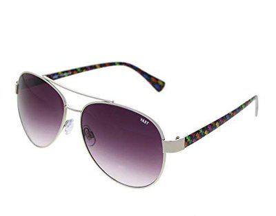 Vast UV Protection Aviator Unisex Sunglasses (PV287) (AVIATOR_SILVERGREY)
