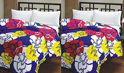 Renown Cotton Beautiful Floral Prints Reversible Single Bed AC Blanket/Dohar (Multicolour, Single Bed) - Combo Set Of 2