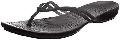 crocs Women's Gold/Black Flip-Flops (41.5 EU) () (206420-751)