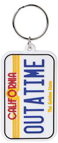 Back To The Future (License Plate) Rubber Keychain