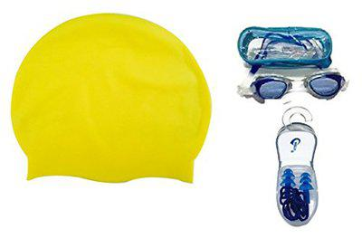 Complete Swimming Kit with Cap, Goggles and earplugs (7)
