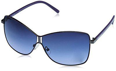 Fastrack UV Protected Butterfly Women's Sunglasses - (NBC058BU2F|60|Blue Color Lens)