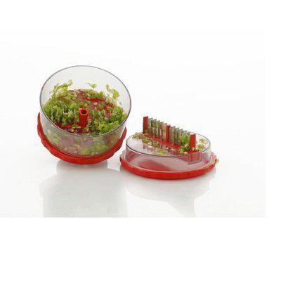 A to Z Sales Plastic Delight Multi Vegetable Crusher,Chopper,Slicer,Cutter.Ideal for Onion,Dry Fruit,Fruit,Capsicum,Peanuts.Etc - Multi Color-AZ5013