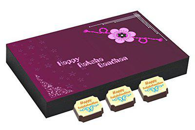 CHOCOCRAFT - Sweets with rakhi - Special chocolate gift for brother - 12 Chocolate gift Box with Rakhi