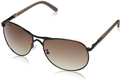 Fastrack UV Protected Aviator Men's Sunglasses - (M127BR2|62|Brown Color)