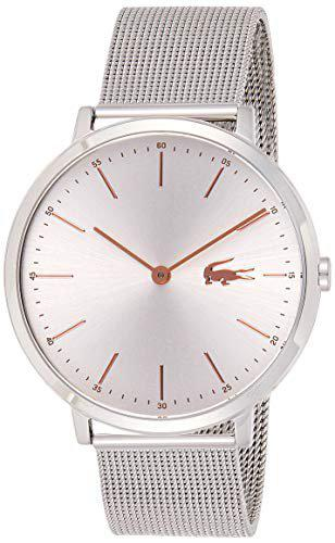Lacoste Women's 'Moon' Quartz Stainless Steel Casual Watch, Color:Silver-Toned (Model: 2000987)