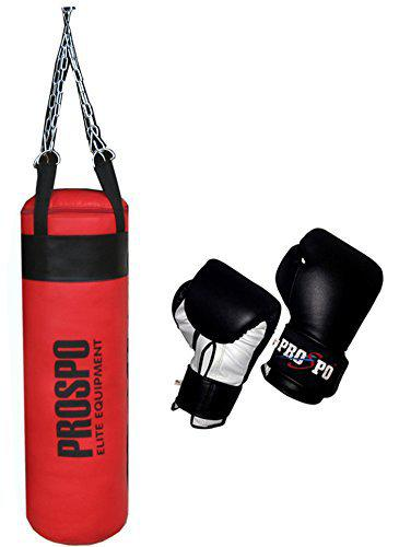 Prospo Strong srf (36 inch) Punching Bag with Boxing Gloves 12 Oz Boxing Kit(Heavy Bag)