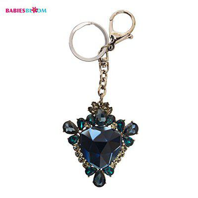 Babies Bloom Blue Luxury Crsytal Keychain And Bag Accessory for Girls
