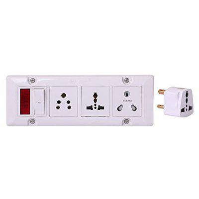 BAHUL EXTENSION With 3cona modular socket with 4 meter wire 5amp plug easy to fit everywhere