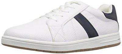 The Children's Place Boy's White Leather Sneakers - 2.5 UK/India (35 EU)