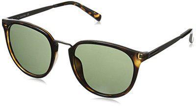 Calvin Klein R366S Round Sunglasses, Dark Tortoise, 51 mm