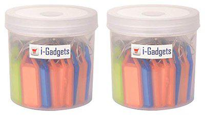 i-gadgets Multicolor Tag Label Keychain(Set Of 100)