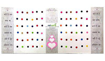 Real Seed Club Collection Matching Plaza Multicolour Forehead Bindis for Women