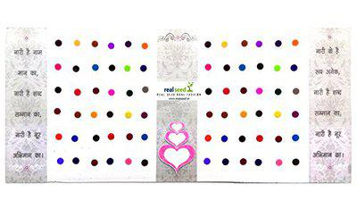 Club Collection Matching Plaza Multicolored Forehead Bindis For Women