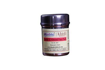 KHADI RISHIKESH Herbal Sandal & Almond Face Pack - 50g Pack