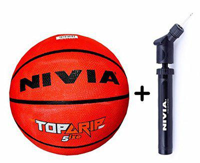 Nivia TOP GRIP Rubber Basketball ( Size: 7, Color : Multicolour, Ideal for : Training/Match )